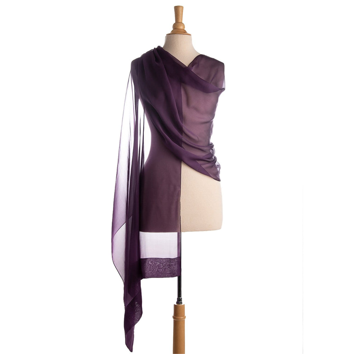 purple silk chiffon shawl