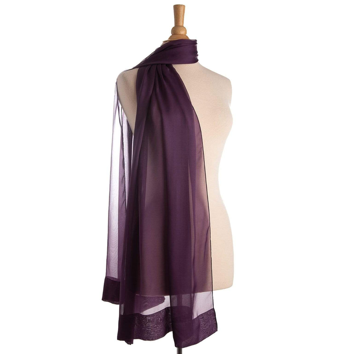 luxury sheer silk scarf