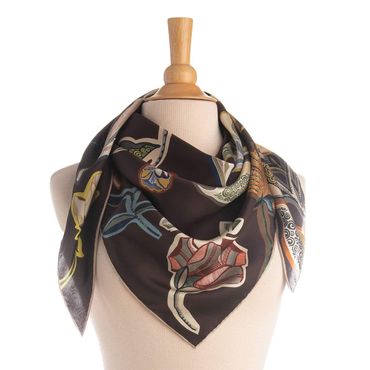 luxury Italian silk fashion scarf