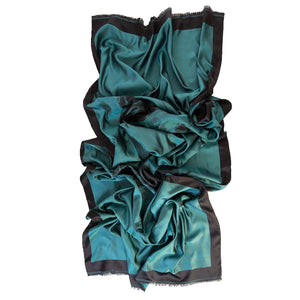 emerald green silk evening wrap