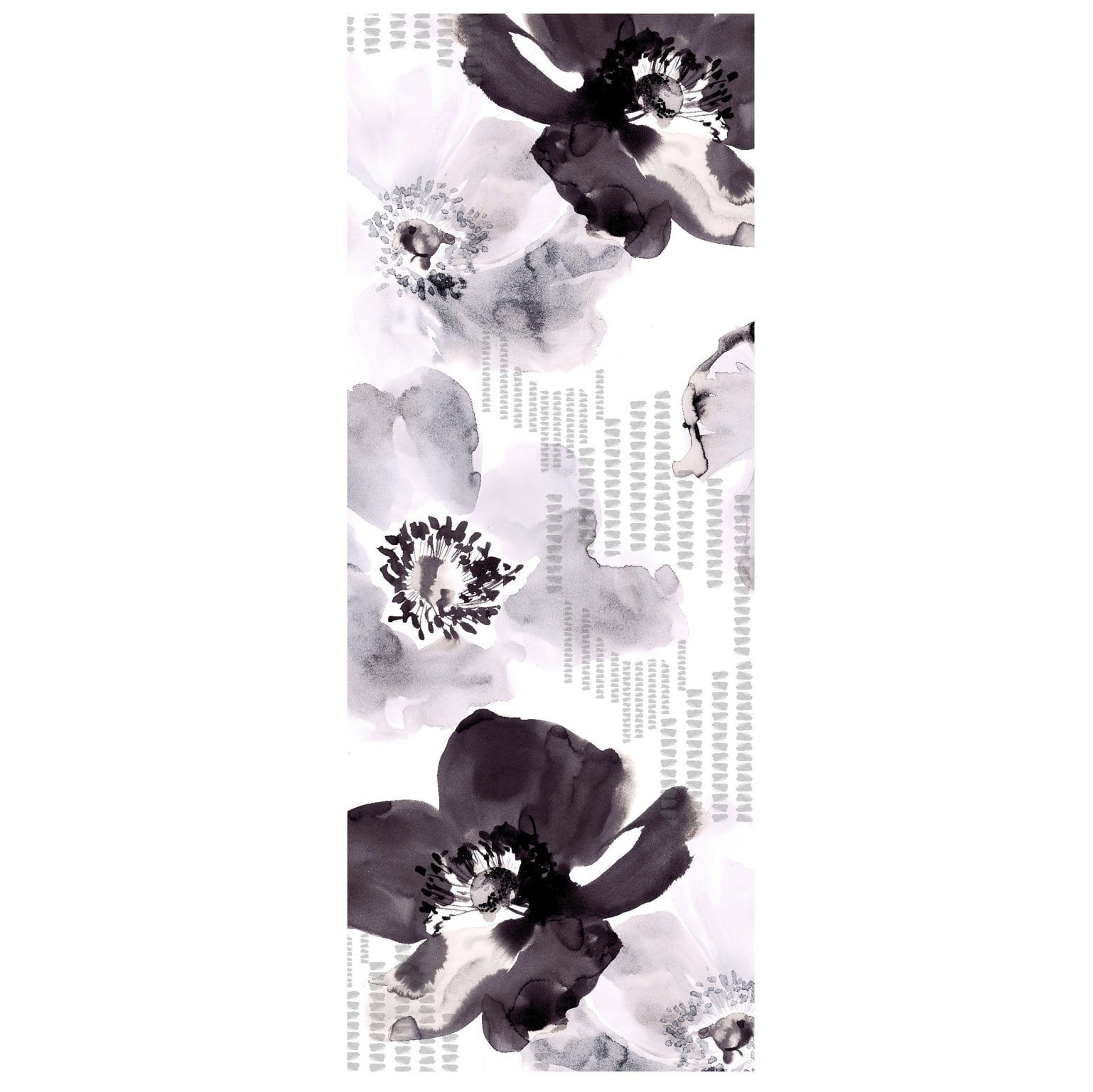 Black and White Chiffon Scarf - Pure Italian Silk