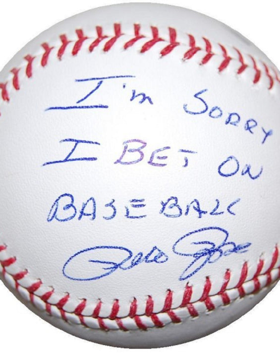Pete Rose autographed MLB baseball inscribed