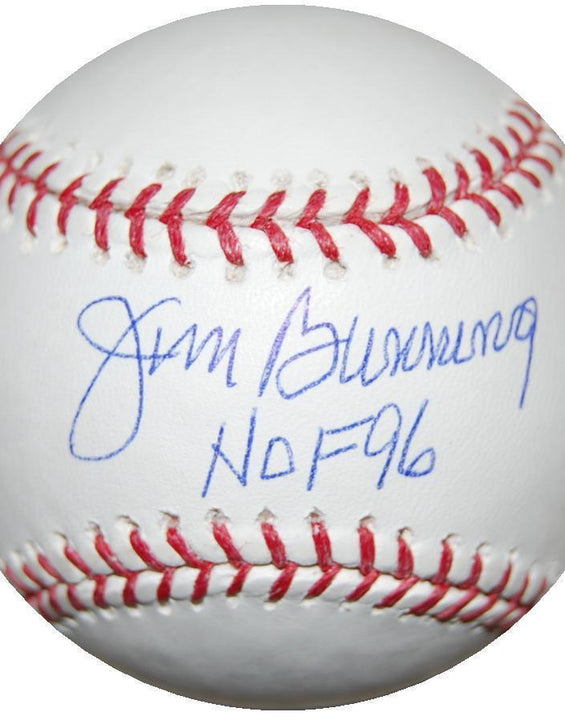 Jim Bunning autographed MLB baseball inscribed