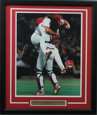 Darren Daulton & Mitch Williams 16x20 Autographed 1993 NL Champs Celebration photo framed