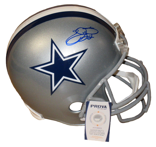 Emmitt Smith Autographed Full Size Dallas Cowboys Replica Helmet
