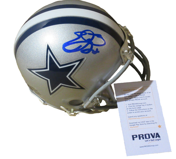 Emmitt Smith Autographed Dallas Cowboys Mini-helmet