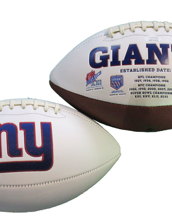 Lawrence Taylor Autographed New York Giants Logo Football inscribed