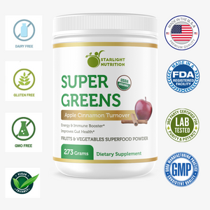 Super Greens Fruits And Vegetables Superfood Powder