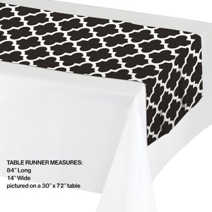 Black & White Table Runner - Happy Plates
