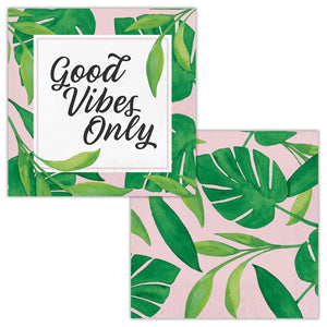Palm Deco Small Napkins - Happy Plates