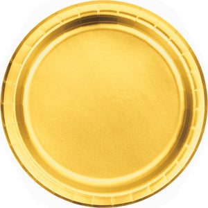 Gold Dinner Plates - Happy Plates