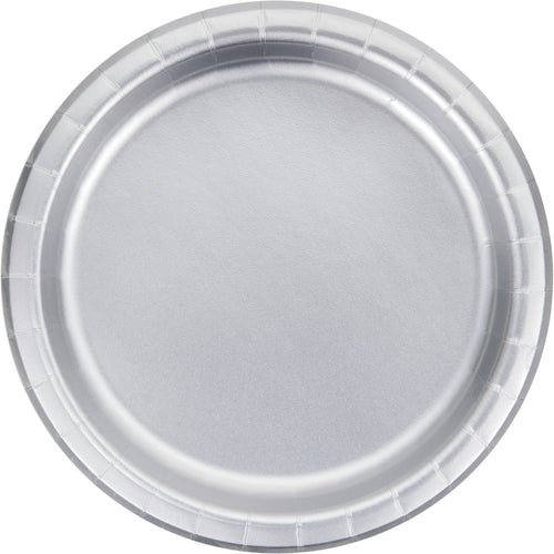 Silver Dinner Plates - Happy Plates