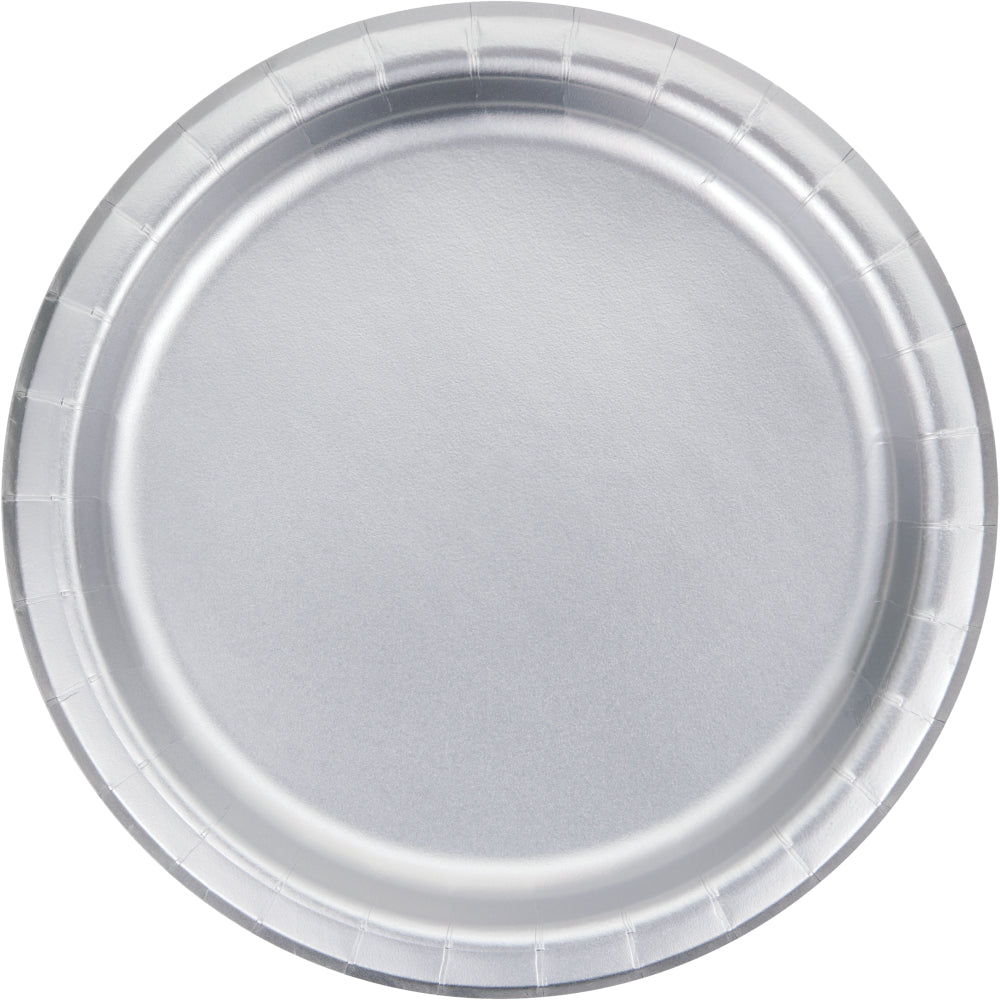 Silver Small Plates - Happy Plates