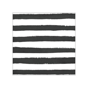 Black & White Stripes Tablecloth - Happy Plates