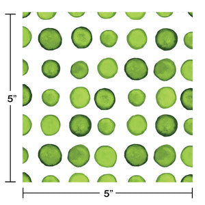 Green Dots and Stripes Small Napkins - Happy Plates