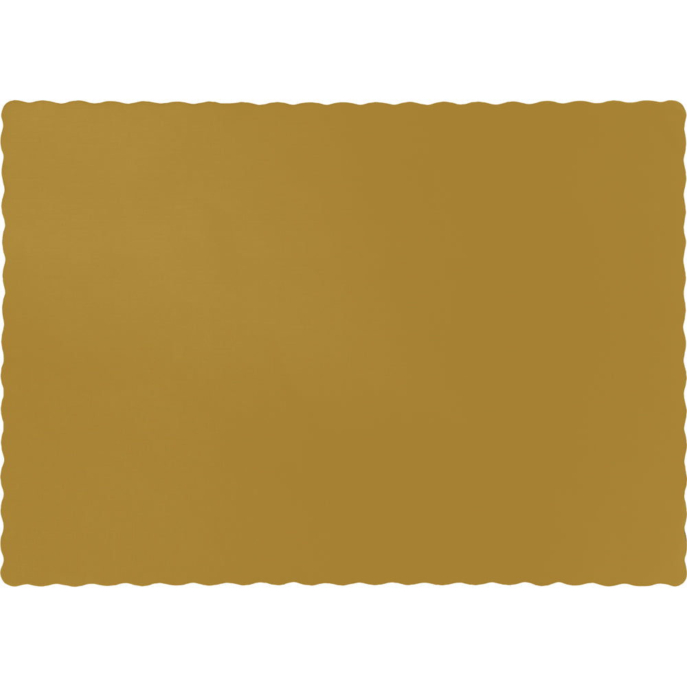 Glittering Gold Placemats - Happy Plates