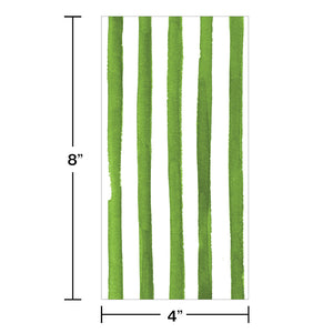 Green Dots and Stripes Guest Napkin - Happy Plates