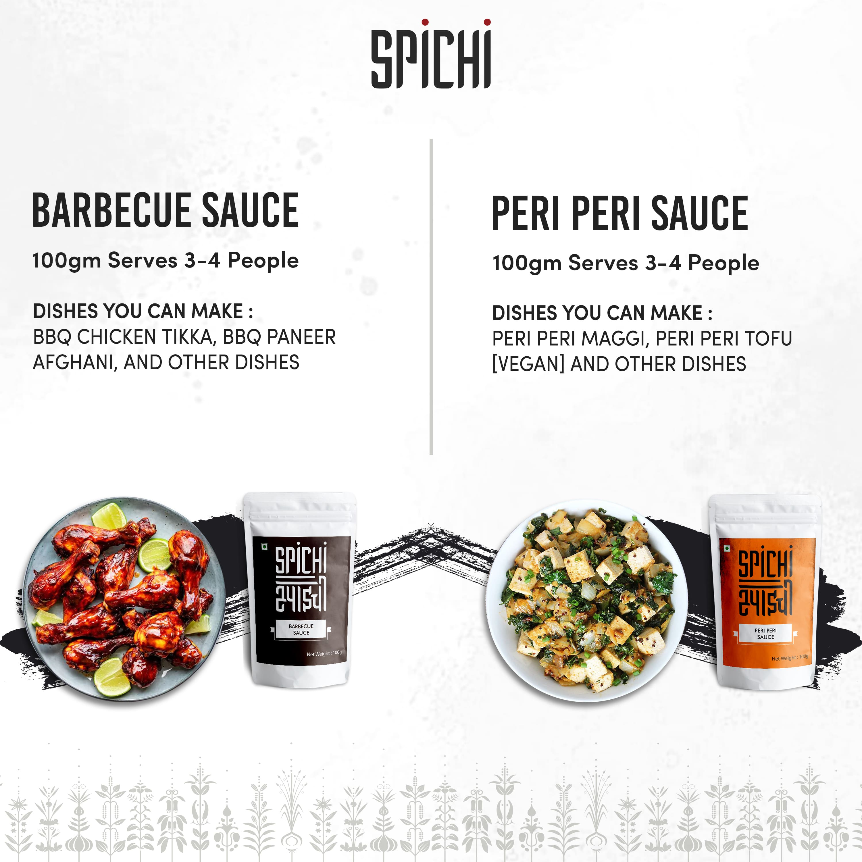 BARBECUE SAUCE AND PERI PERI SAUCE COMBO
