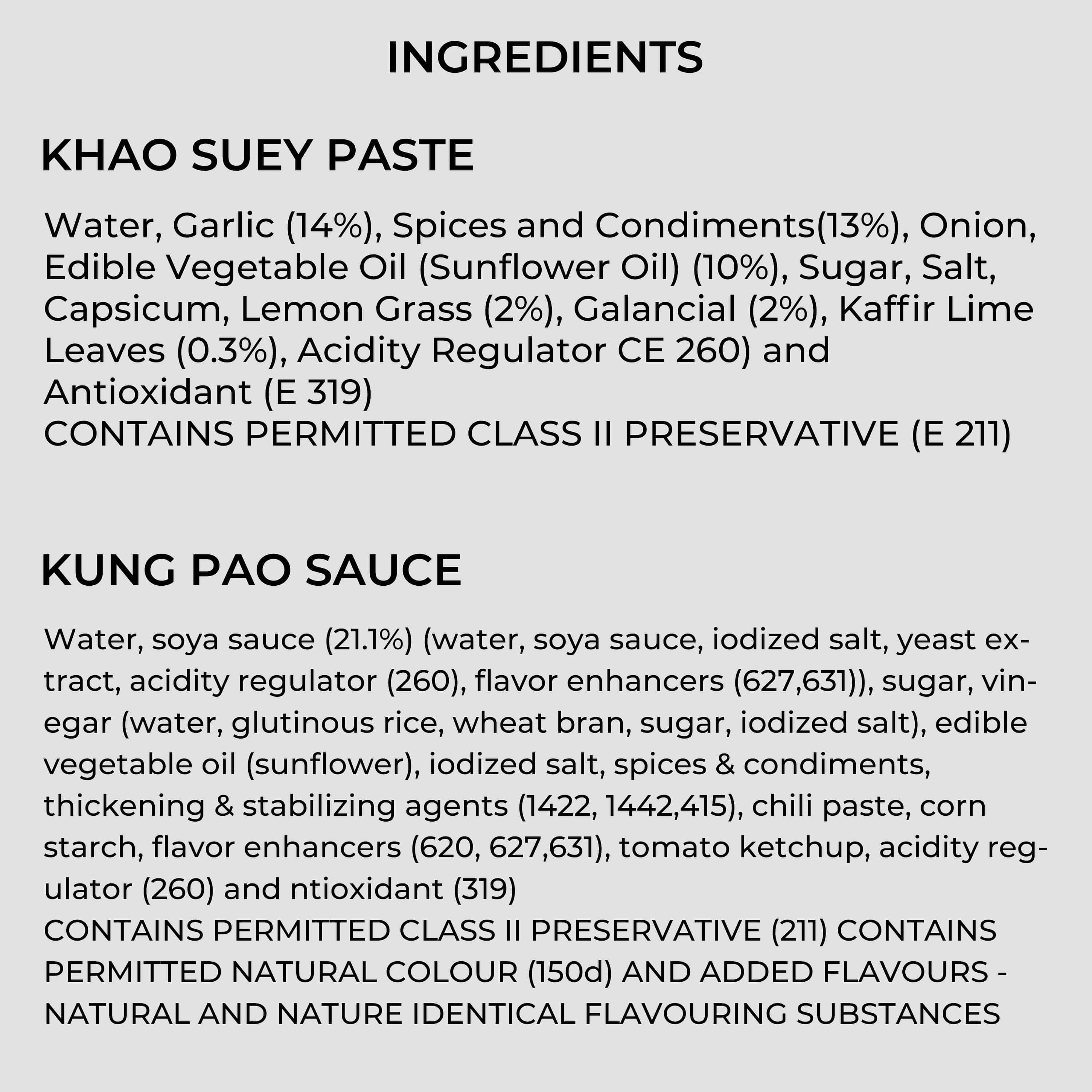 KUNG PAO SAUCE AND KHAO SUEY PASTE COMBO