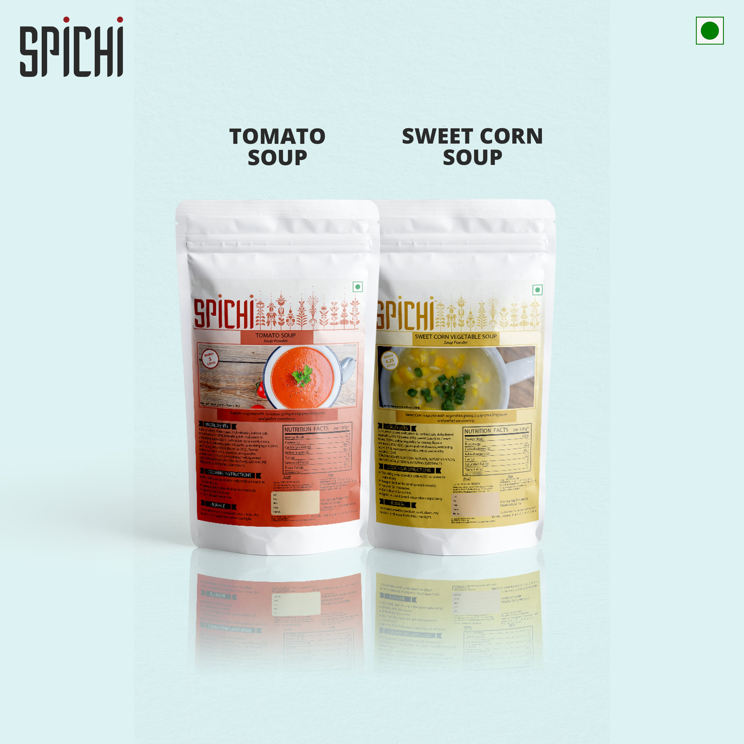 SPICHI TOMATO SOUP AND SWEET CORN VEGETABLE SOUP COMBO