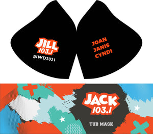 INTERNATIONAL WOMANS DAY MASK, WITH EVERY JILL FM MASK PURCHASED YOU RECEIVE A FREE TUDI WRAP $15.00