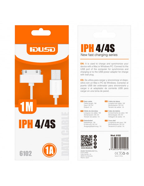 CABLE DATOS IDUSD IPHONE 4 1A BL 6102B