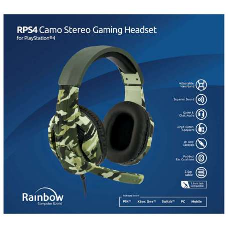 AURICULARES CAMUFLAJE ESTEREO PS4
