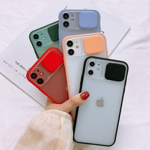 FUNDA COVER CON PROTECTOR DE CAMARA IPHONE 12 PRO