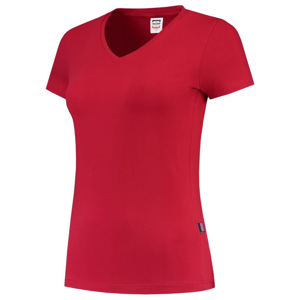 Tricorp T-Shirt V Hals Slim Fit Dames Red