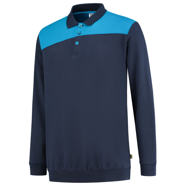 Tricorp Polosweater Bicolor Naden Ink-Turquoise