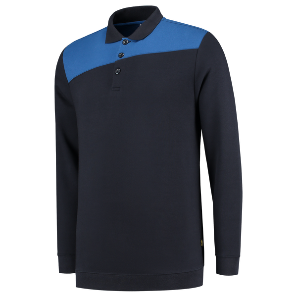 Tricorp Polosweater Bicolor Naden Navy-Royalblue