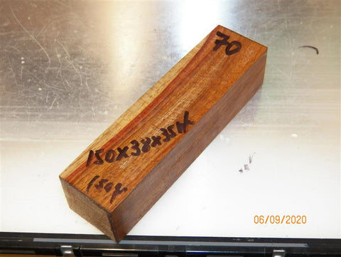 Amboyna/Rosewood Stabilized clear - KNIFE blanks  - sold singly