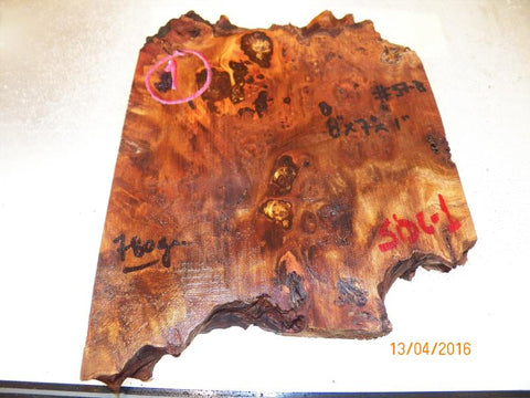 Australian #57 Peppercorn tree burl spalted Stabilized clear sliced blanks - Sold singly