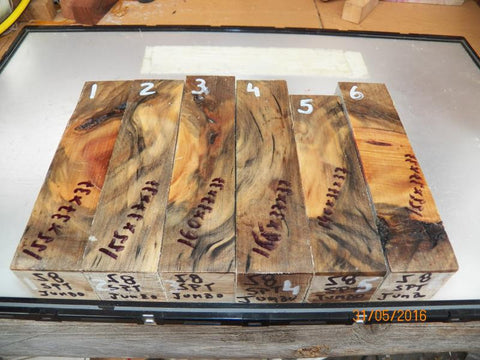 Australian #58 Norfolk Pine tree Spalted - KNIFE blanks raw - Sold singly