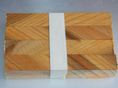 Australian #59-Z Cypress-aged PEN blanks - Diagonal cut - Packs of 4