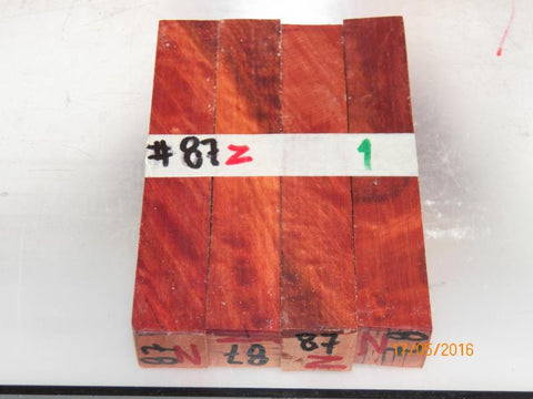 Australian #87z (diagonal) Red Ironbark -  PEN blanks - Sold in packs