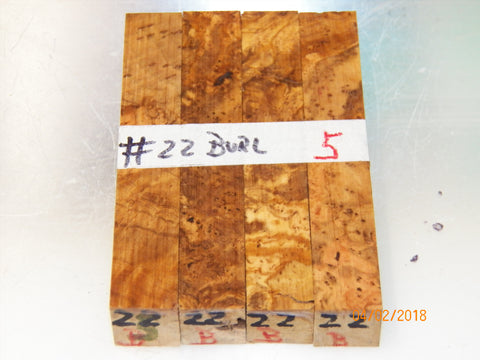Australian #22B Olive Root Burl wood - PEN blanks - Sold in packs