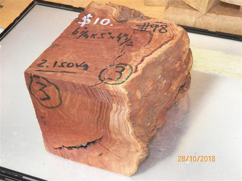 Australian #98 Red Mallee root burl raw - MIXED blanks - Sold singly
