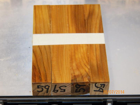 Australian #59ST Cypress-aged raw wood - PEN blanks - Straight cut sold in packs