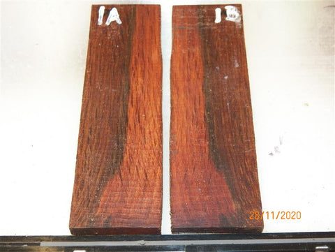 Australian #95st Red-Oak STABILISED Knife scales - Book-matched - Sold in pairs