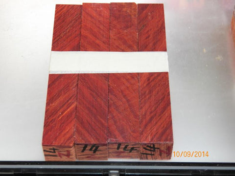 Australian #14-Z She/Bull-Oak PEN blanks raw  (diagonal cut) Sold in packs of 4