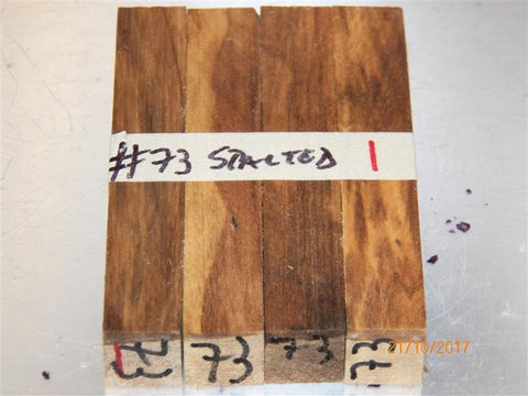 Australian #73 (not yet identified) Spalted wood raw - PEN blanks - Sold in packs
