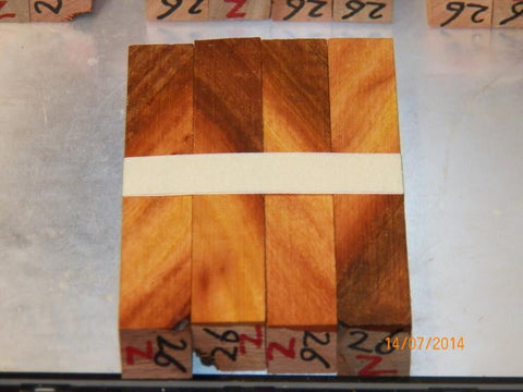 Australian #26Z Platypus Gum tree wood - PEN blanks raw/diagonal cut - Sold in packs