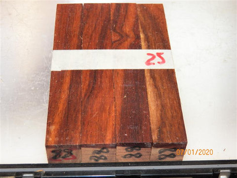 Australian #88st (straigh cut) Brown Mahogany - PEN blanks - Sold in packs