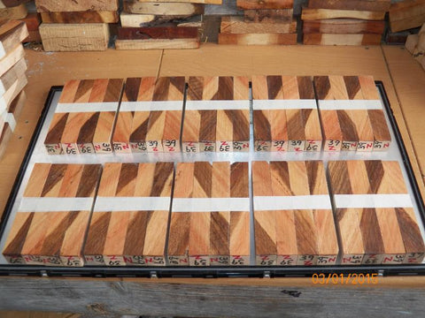 Australian #39-Z (diag.) Eucalyptus Peninsularis (oil producer) wood - PEN blanks - Sold in packs