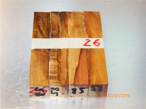 Australian #58cr (crotch) Norfolk Pine tree - PEN blanks - Sold in packs