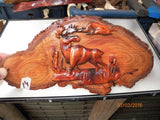 Australian woods carved images/scenes boards/panels - Sold singly