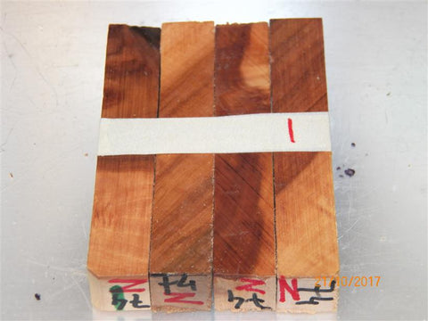 Australian #74-Z (diagonal cut) McIntosh Apple tree wood (aged) - PEN blanks - Sold in packs