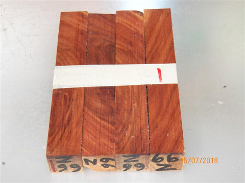 Australian #66-Z (diagonal cut) Swamp Mullet Gum tree wood - PEN raw blanks - Sold in packs of 4