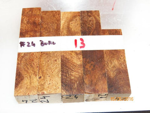 Australian #24B Cork Tree Burled - PEN blanks raw - Sold in packs